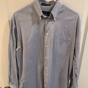 Men's Grey/Blue Nautica Button-Down!